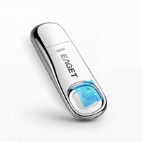 EAGET FU60 64GB 32GB High speed Recognition Fingerprint Encrypted High tech Pen Drive Security Memory USB 3.0 Flash Drives