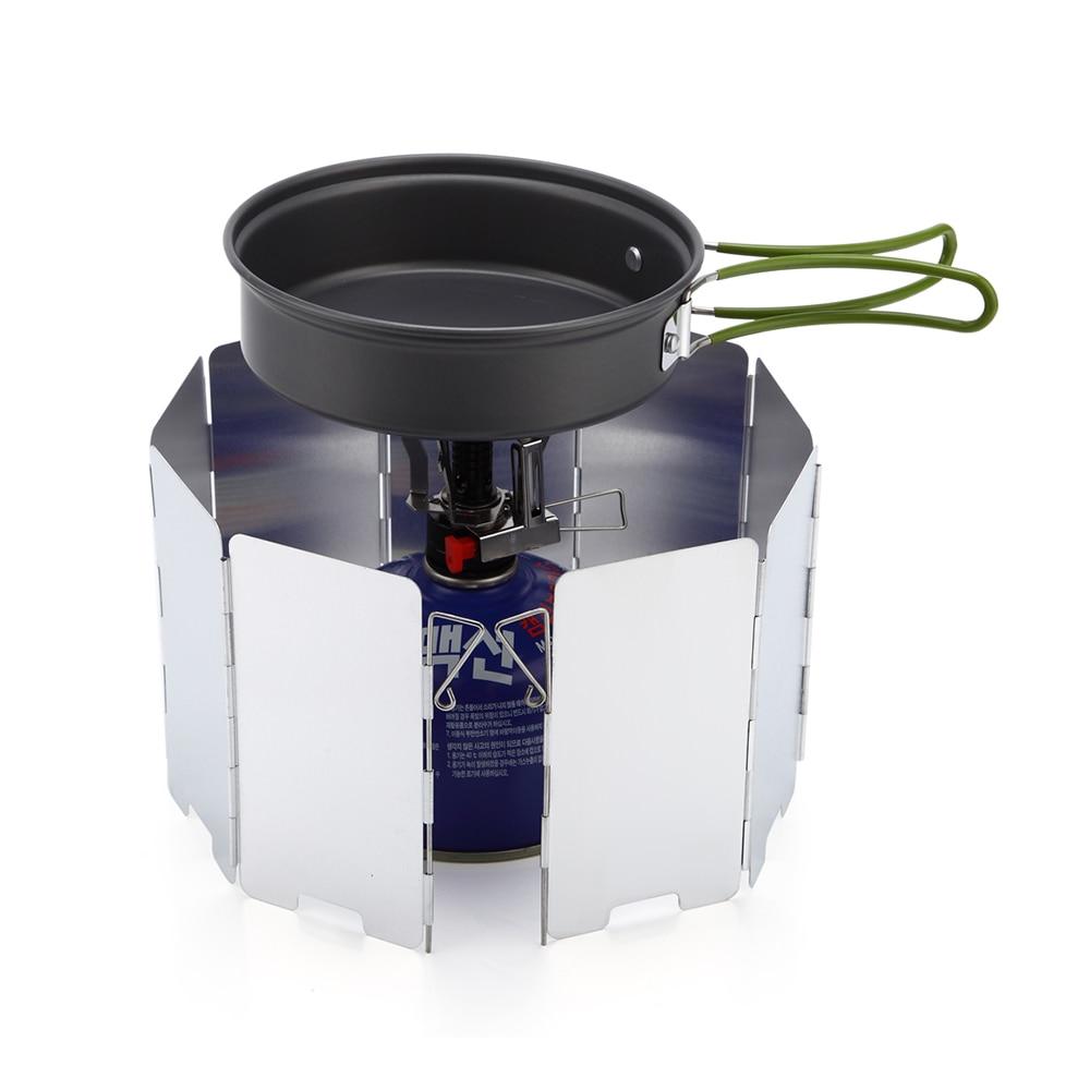 Sklopiva plinska peć s 9 ploča, kamin, plamenik za kuhanje, plamen - Kampiranje i planinarenje - Foto 6
