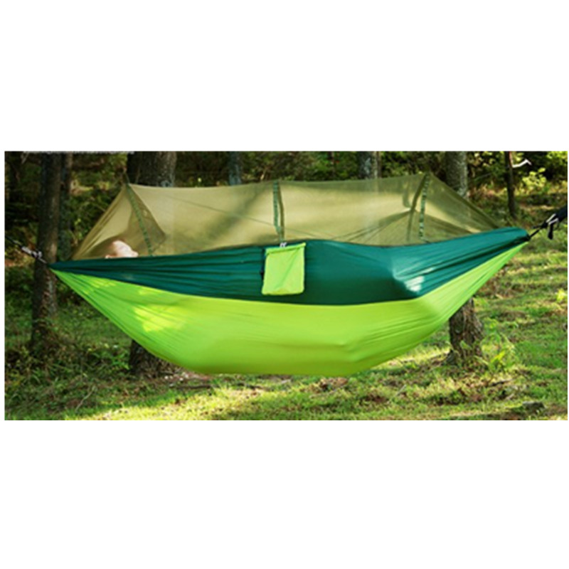 Outdoor Parachute Cloth Hammock With Mosquito Net Ultra Light Nylon Double Army Green Camping Aerial Tent Creative Hammock-67