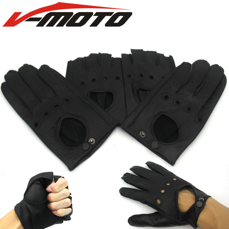 2017 hot sale FOR Harley motorcyclists leather gloves long Short section section of mens leather motorcycle gloves