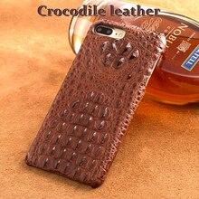 Wangcangli טלפון מקרה תנין מרקם חזרה כיסוי עבור iphone X מקרה טלפון סלולרי כיסוי מלא ידני עיבוד מותאם אישית