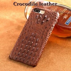 Image 1 - Wangcangli telefon case krokodyl tekstury tylna pokrywa dla iphone X etui na telefony komórkowe pokrywa pełnej obsługi klienta przetwarzanie