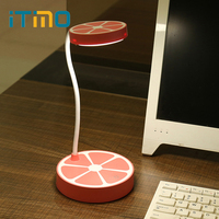 ITimo LED Desk Lamps Orange Shaped Book Reading Light 3 Modes Cute USB Rechargeable Eye Protection