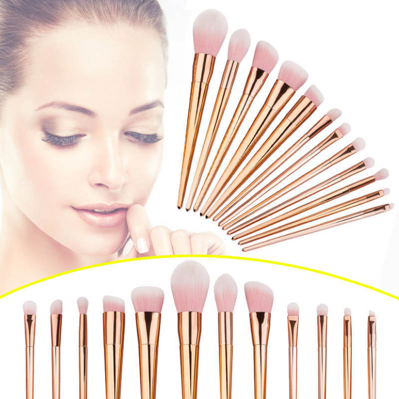 12pcs Pro Makeup Brushes Set Powder Foundation Eyeshadow Eyeliner Gift mac splash and last pro longwear powder устойчивая компактная пудра dark tan