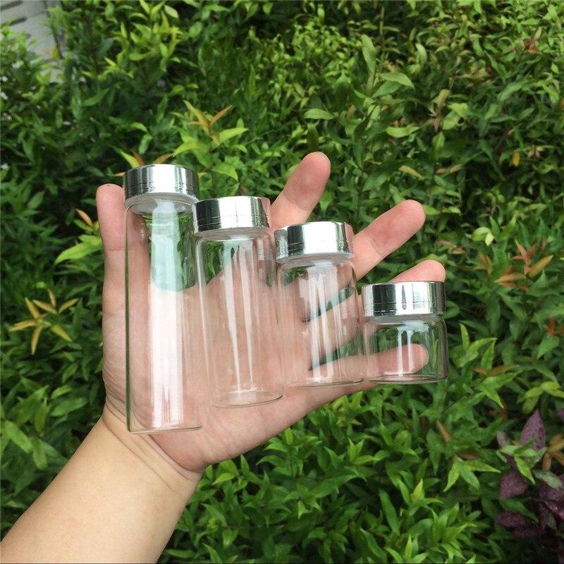 20ml 50ml 65ml Butelii de sticla de 90ml cu sticla de argint din - Decoratiune interioara