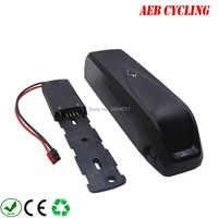 Freies verschiffen lithium-ionenbatterie Hailong unterrohr 48 V 10Ah Li-Ion elektrische fahrrad batterie für fat tire bike mit 2A/3A ladegerät