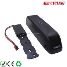 все цены на Free shipping Lithium ion Hailong down tube 48V 10Ah Li-ion electric bicycle battery for fat tire bike with 2A/3A charger онлайн
