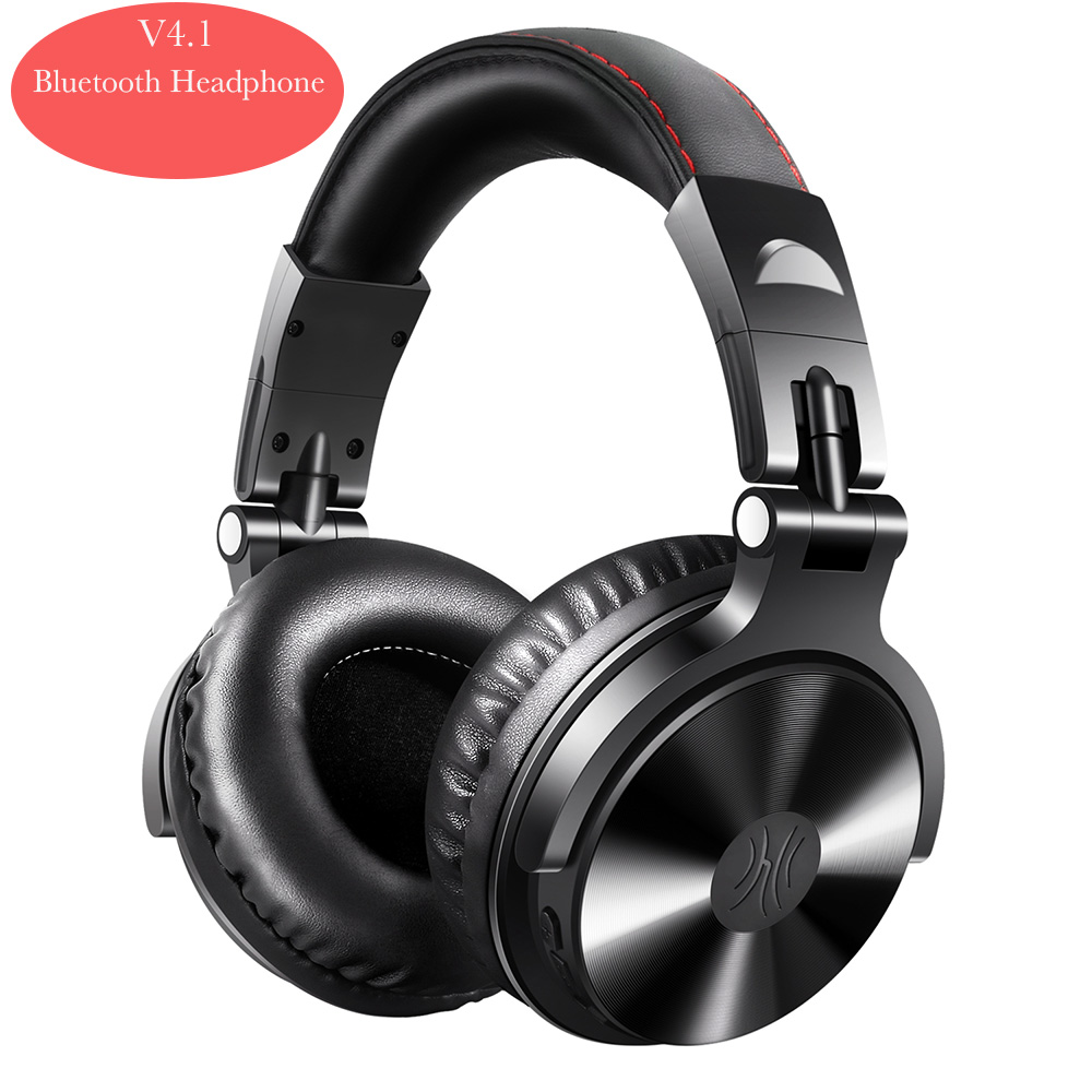 OneAudio Noise Cancelling Headphones V4.1 Bluetooth Headphones Wireless On-Ear Stereo Wireless+Wired Headset For Phones PC New souyo bt501 wireless bluetooth headphones stereo sports headphones portable foldable headphones with microphone for phones pc