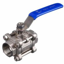 1/2 Female Thread 2 Way 304 Stainless Steel DN15 3-pieces Ball Valve for Water Gas Oil Control