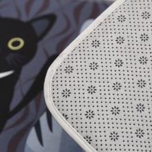Floor Mats Cat Printed Bathroom Kitchen Carpets Doormats Anti-Slip