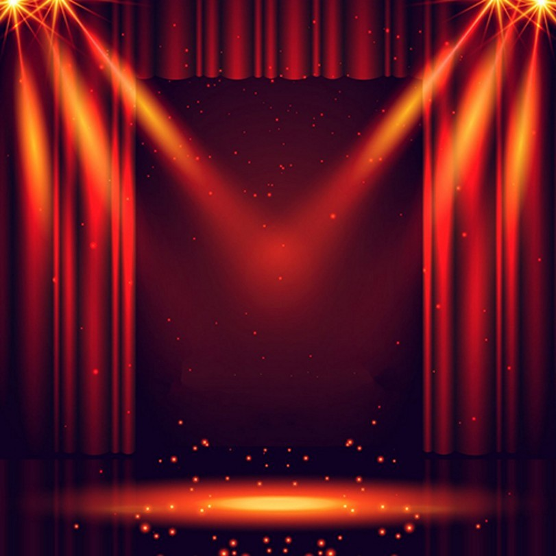 Red Curtain Show Light Stage Laser Sparkly backdrop Vinyl cloth High ...