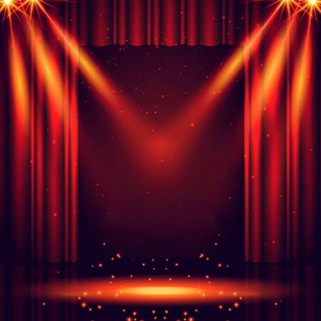 Red Curtain Show Light Stage Laser Sparkly backdrop Vinyl