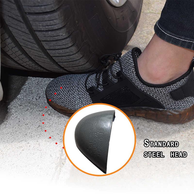 VAUSKY 2019 erkek güvenlik ayakkabıları Çelik Ayak Hafif Anti-smashing Unisex Iş Sneakers nefes aşınmaya dayanıklı Hem