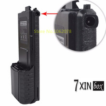 3800mAh 7.4V Li-ion High Capacity Black BL-5L Extended Li-ion Battery for Baofeng UV-5R UV-5RE Walkie Talkie BL-5L