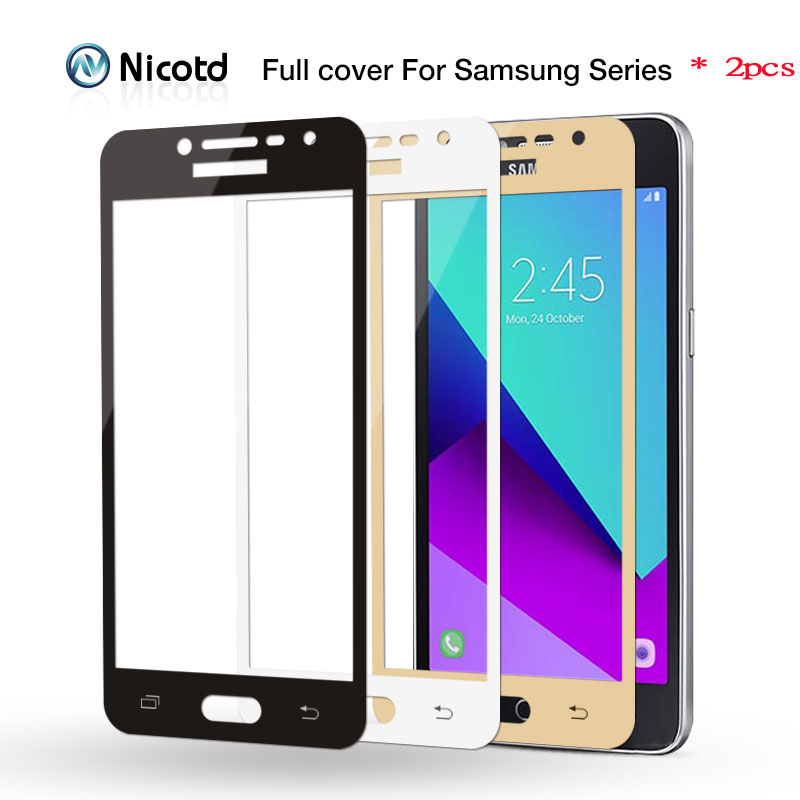 Galleria fotografica 2pcs/lot 9H Full Cover Tempered Glass for Samsung Galaxy A3 A5 A7 2016 2017 S6 S7 J2 J5 J7 Prime Note 4 Note 5 Screen Protector