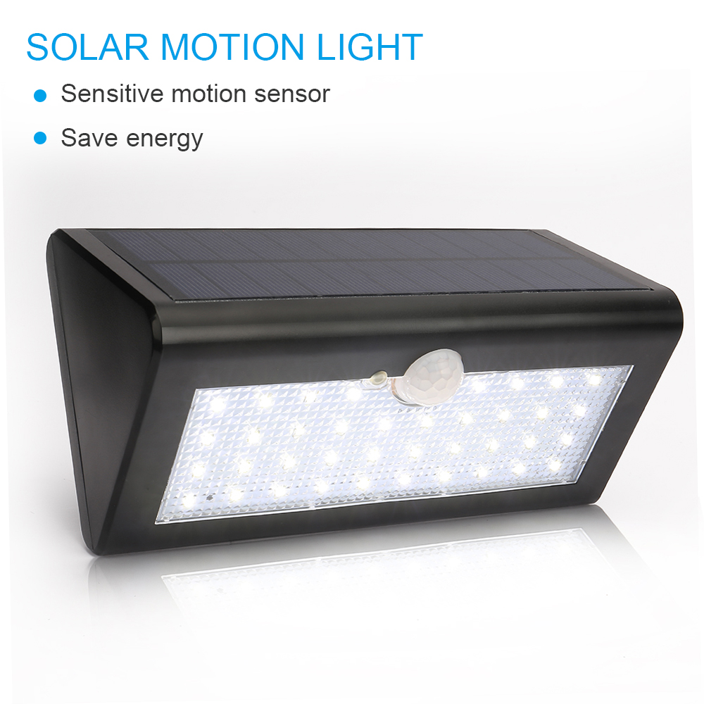Led Sensor Buitenlamp Us 21 23 20 Off Solar Buiten Lamp Met Bewegings Sensor 38 Led Solar Light Pir Motion Sensor 3 Mode Ip65 Outdoor Waterproof Exterior Wall Lamp In