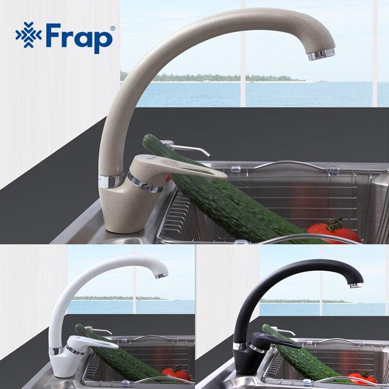 FRAP Modern Style Home multi-color Küchenarmatur Kalt-und Warmwasserhahn Single Griff Schwarz Weiß Khaki F4113-7/8/9