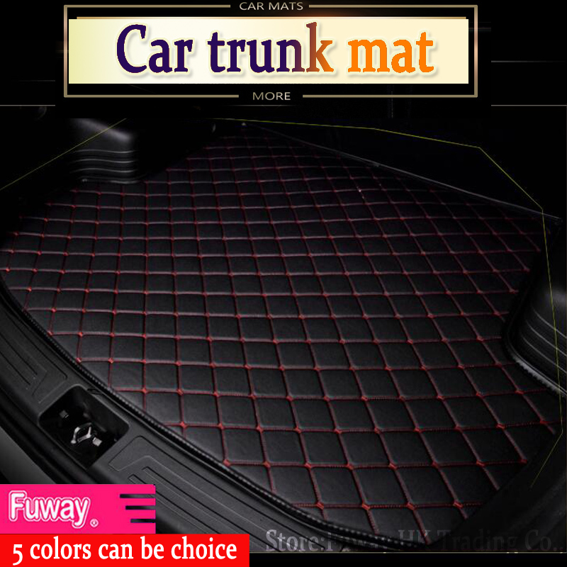 free shipping car trunk mat for BMW 3/4/5/7 Series GT M3 X1 X3 X4 X5 X6 Z4 3D car-styling all weather tray carpet cargo liner custom fit car trunk mats formazda cx 5 2018 5 seats waterproof leather pet mat car styling all weather tray carpet cargo liner