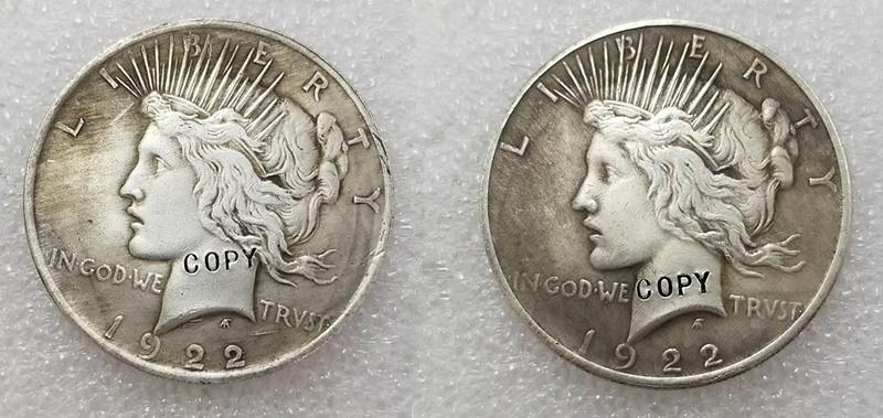 1922 монета moneyr с двумя лицами (1922)