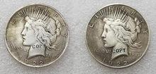 1922 dólar da paz dois face coin (1922) copiar moedas
