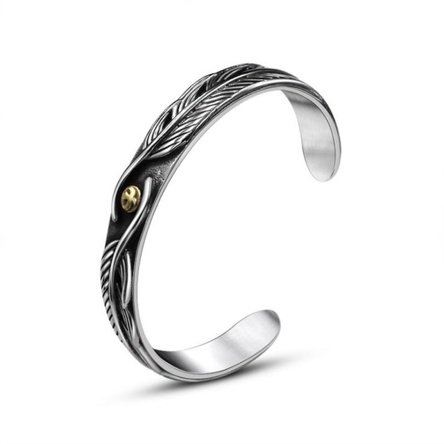 Gothic Punk Men Jewelry Vintage Men S Cuff Bangles Stainless Steel