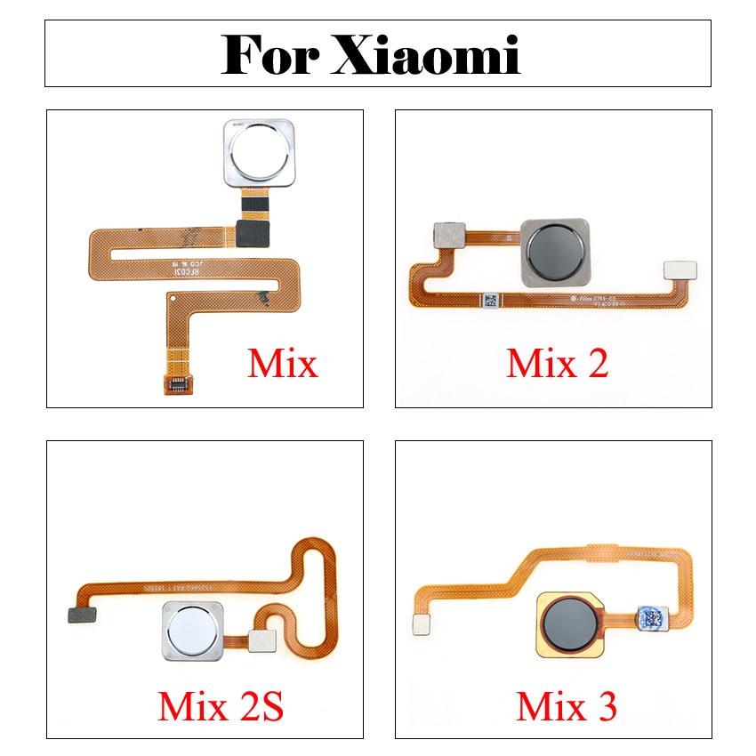 YuXi Black/White/Green Fingerprint Sensor Flex Cable For Xiaomi Mi Mix 2 2S 3 Finger ID Touch Flex Cable Replacement