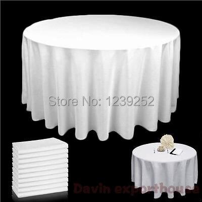 2016 nouveau 7 couleurs 108 pouce table ronde tissu banquet de mariage satin tissu nappe - Nappe Ronde Mariage