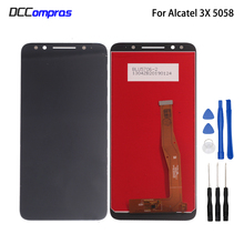 цена на For Alcatel 3X 5058i 5058y 5058 LCD Display Touch Screen Assembly Panel Replacement For Alcatel 5058 Phone Screen LCD Display