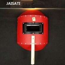 JAISATI Protective hand-held semi-automatic welding masks durable red steel paper edge