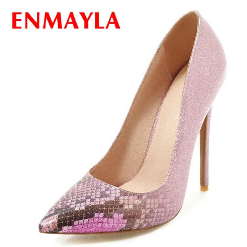 9cb140a0e2 Das Mulher Saltos Toe Altos SlipEm azul roxo Sapatos Casamento Preto  Tamanho Do 47 verde Enmayla ...