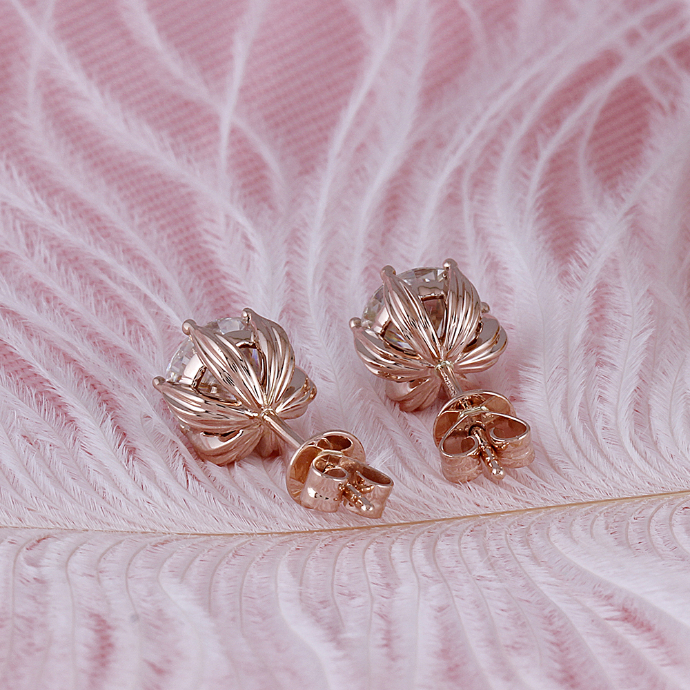 moissanite earrigns rose gold (2)