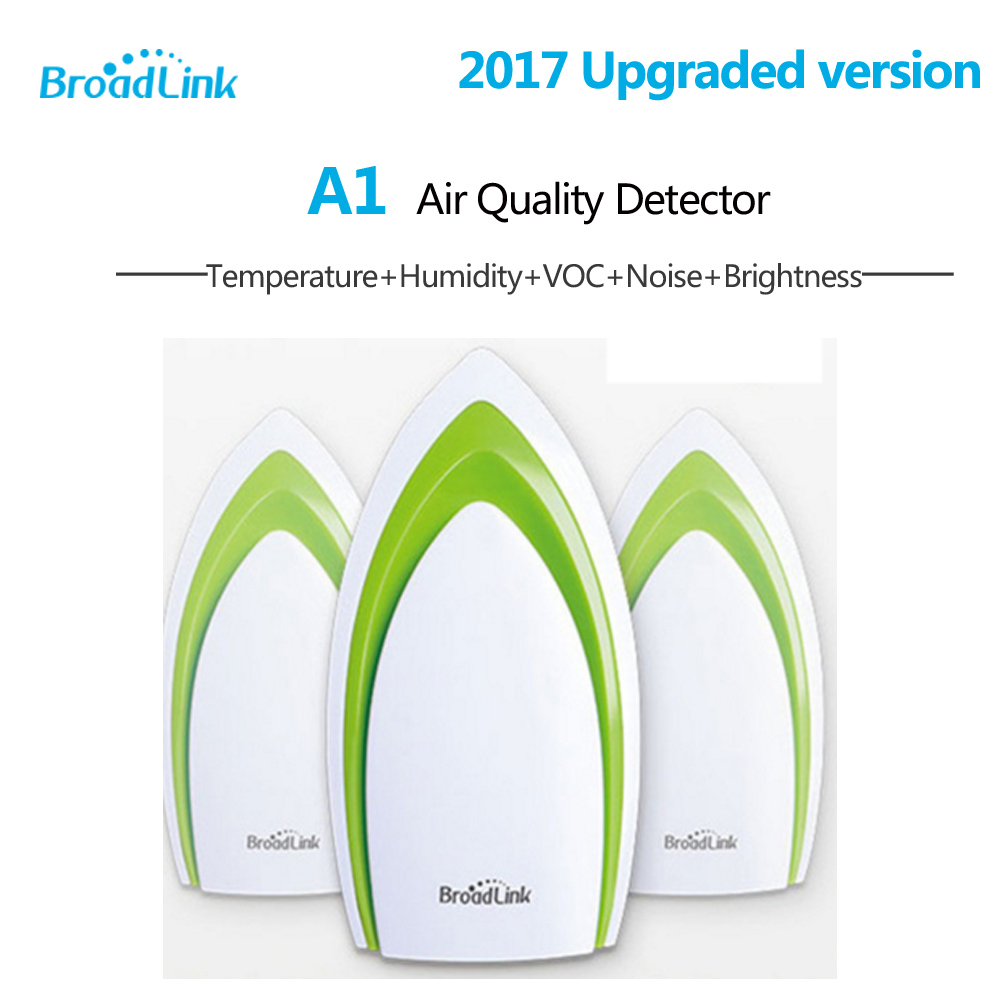 Broadlink A1 Smart Home Temperature Humidity Sensor Air Quality Light Gas Sound Wireless Wifi Remote Control Automation Modules digital indoor air quality carbon dioxide meter temperature rh humidity twa stel display 99 points made in taiwan co2 monitor
