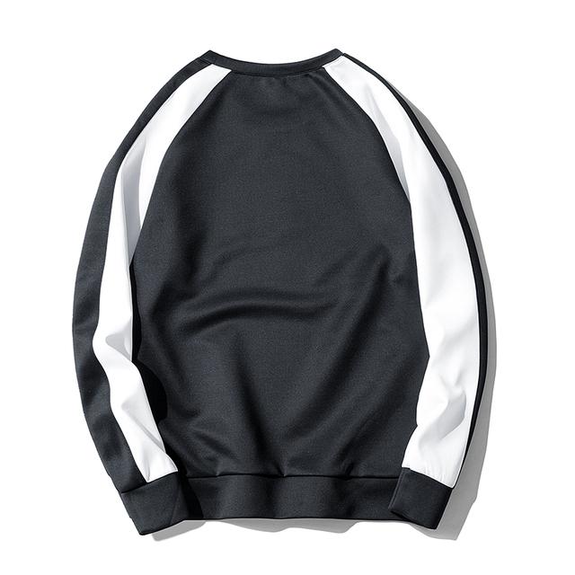 Brand New Multi-Color Mens Sweatshirt Hit Color Spliced Man Hoodies Comfortable Crewneck Autumn And Winter Mens Sweatshirt