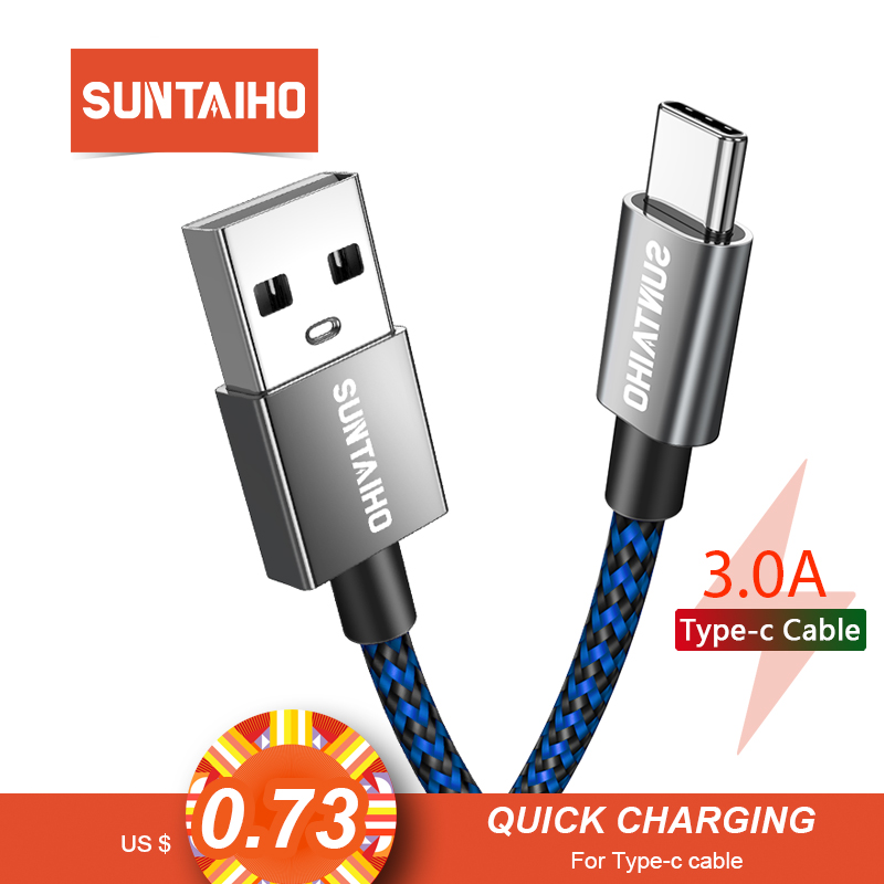 Suntaiho USB Typ C Kabel für Xiaomi redmi note 7 Typ-c USB C Kabel handy draht daten kabel schnelle Lade für huawei P30 PR