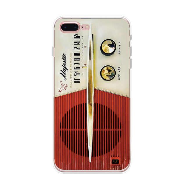 Dla iPhone X moda Retro kamery taśma kalkulator etui na telefony dla iPhone 5S SE 6 s 6 7 7 Plus 8 8 Plus etui miękkie malowanie Capas