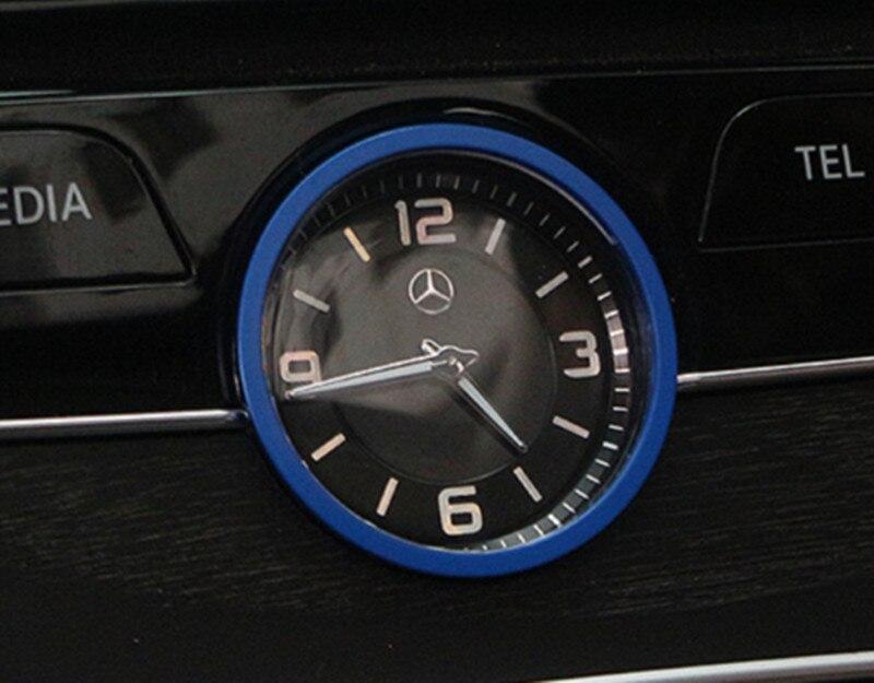 BBQ@FUKA Car Middle Console Clock Ring Cover Trim For Mercedes-Benz E Class C Class W205 W213 2017