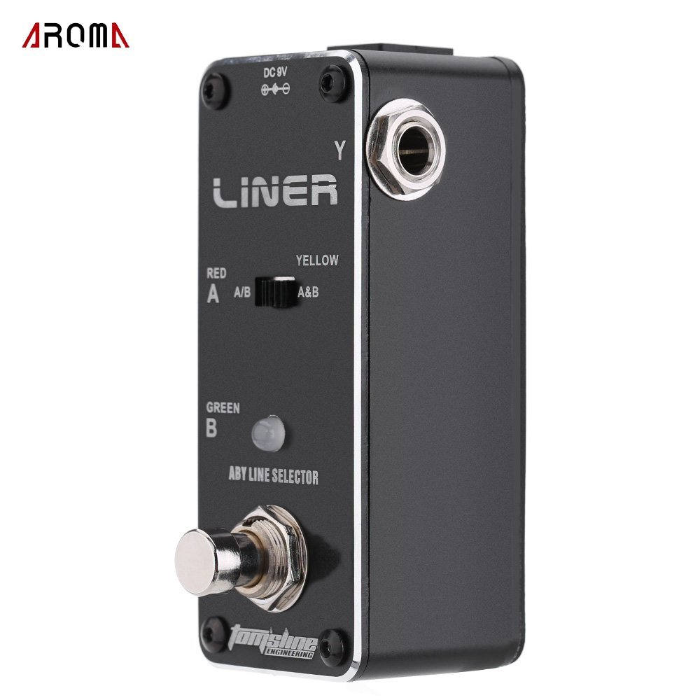 AROMA ALR-3 Liner Aby Line Selector Mini Electric Guitar Effect Pedal tomsline alr 3 guitar effect pedal accessories liner aby line selector mini electric guitar effect pedal ture bypass