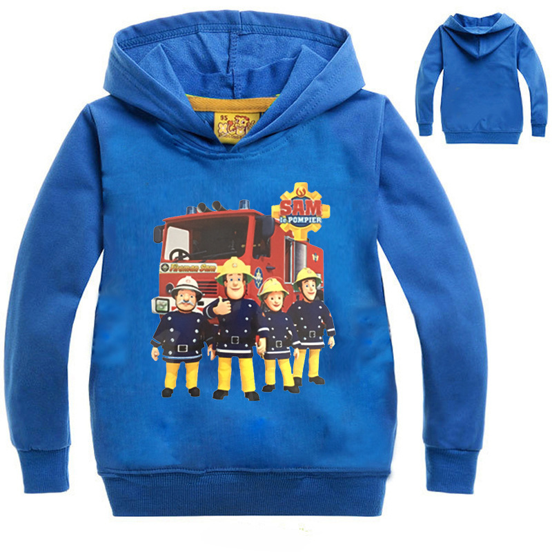ZY 2-14Years Costume Firefighter Fireman Sam Clothes Nova Kids Coats Manteau Enfant Garcon Hiver Casaco Infantil Menino NO7646
