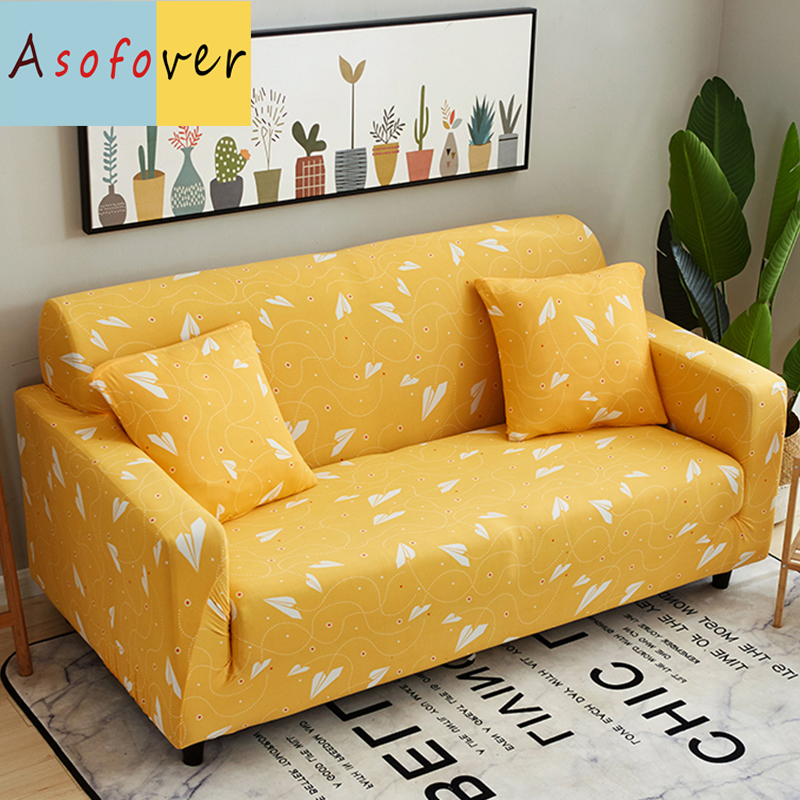 Brilliant Us 16 65 50 Off Artist Yellow Sofa Cover Elastic Sofa Slipcover Stretch Furniture Covers Protector Sofa Covers For Living Room Couch Covers In Sofa Short Links Chair Design For Home Short Linksinfo