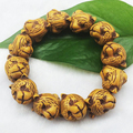 women wooden loose cuff tiger beads cuff bracelets bead bracelet Buddha