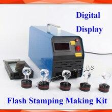 2 3Exposure Lamps Digital Display Photosensitive Flash Stamp Machine Stamping Making+ 10pcs Holder Film Pad +1 Sheets Kit