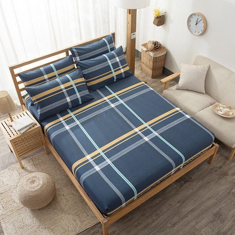 Cartoon Gestreepte Animal Print Bed Matrashoes Katoen Stofdicht Lakens Zacht Comfortabel Ademend Voor Hotel Thuis Hoge Kwaliteit