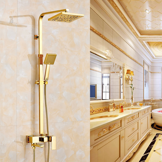 Luxury Gold Finish Wall Mounted 8\