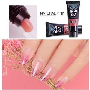 Image 5 - 12Pcs/Set Nail Art Set Poly Gel Finger Extension Clear Pink Jelly Polygel Quick Building DIY Nail Art Tool Decoration Nail Salon