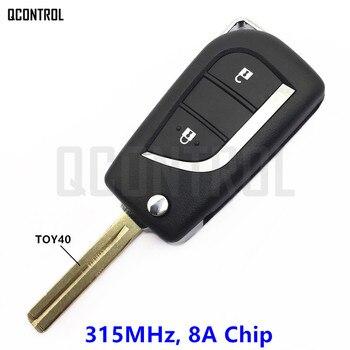 QCONTROL дистанционный ключ для пластиковая пилочка для ногтей RAV4 Reiz 315MHz 8A Чип Модель № 12BER-01 или 12BER-02 >> JohanWorks CarParts Store