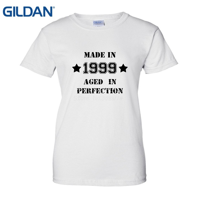 Made In 1999 19th Year Birthday Age Born Present T Shirt New 2018 Hot Summer Casual Printing Tees Women Brand Clothing