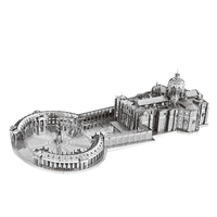 Nanyuan 3D Metal Puzzle St Peter S Basilica Building Model DIY Laser Cut Assemble Jigsaw Toys