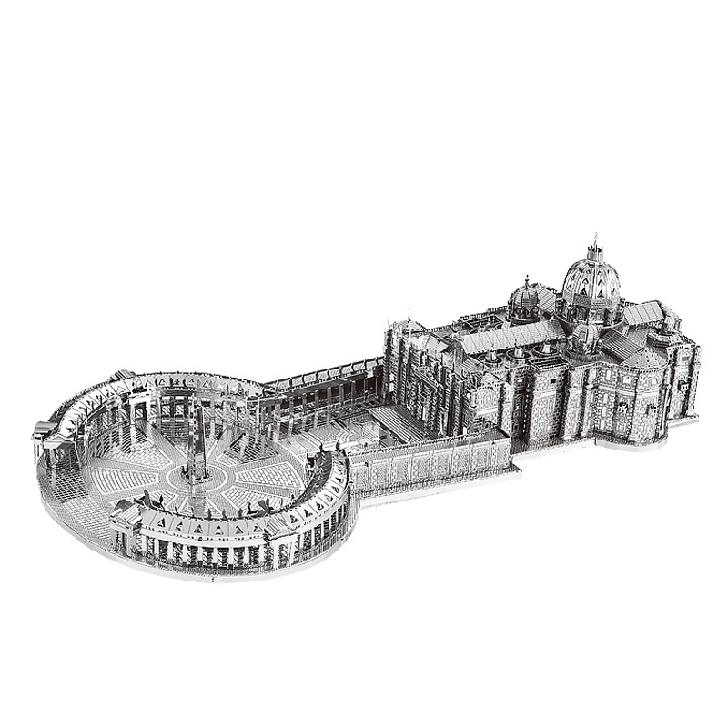 Nanyuan 3D Metal Puzzle St. Peter's Basilica Building Model DIY Laser Cut Assemble Jigsaw Toys Desktop Decoration GIFT For Audit