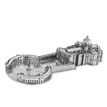 Nanyuan 3D Metal Puzzle St. Peter's Basilica Building Modell DIY Laser Cut Assemble Jigsaw Leker Desktop Dekor GIFT For Audit