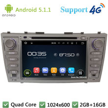 """Quad Core 1024*600 8 """"Android 5.1.1 reproductor de DVD de coches DVD Radios FM DAB + 3G/ 4G WiFi GPS Mapas aurion para Toyota Camry 2007-2011"""